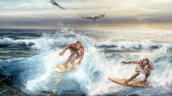 Adler und Kondor, 150 x 100, Acryl