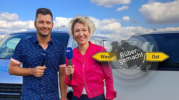 NDR-Reporterin Christina von Saß und MDR-Reporter Stefan Bernschein