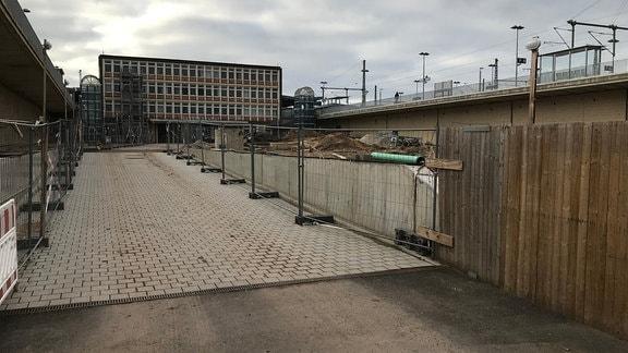 auf der Baustelle des Citytunnels in Magdeburg