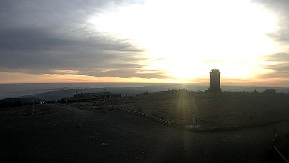Bild einer Webcam auf dem Brocken
