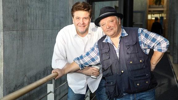Schauspieler Axel Prahl und Moderator André Holst