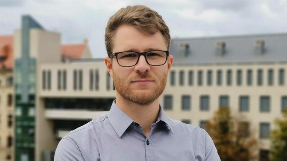 MDR-Volontär Roland Jäger