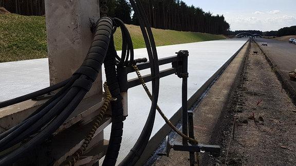 Betonierarbeiten auf der A14