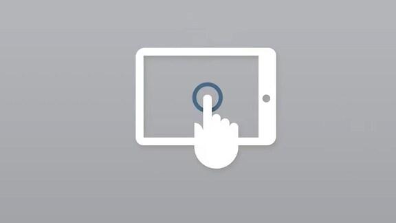 Skizze eines Fernsehers vor grauem Hintergrund