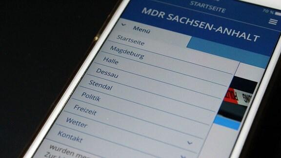 Startseite App MDR Sachsen-Anhalt auf iPhone