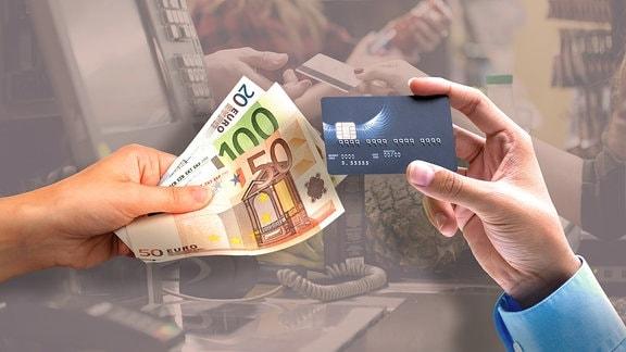 Bargeld und Geldkarte