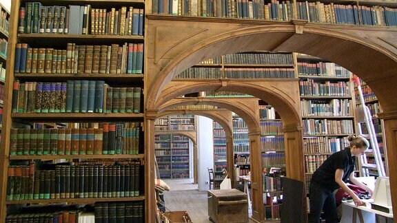 Der berühmte Büchersaal der Oberlausitzschen Bibliothek.