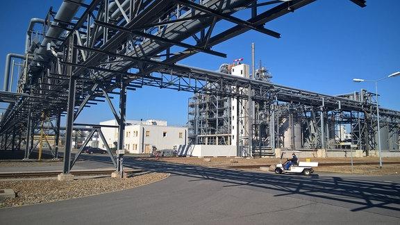 BASF-Werke in Schwarzheide: Das Betriebsgelände umfasst mehrere Quadratkilometer.