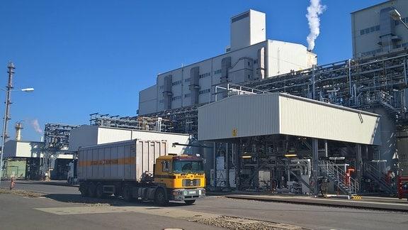 BASF-Werke in Schwarzheide: Die F500-Anlage zur Produktion von Pflanzenschutzmitteln.