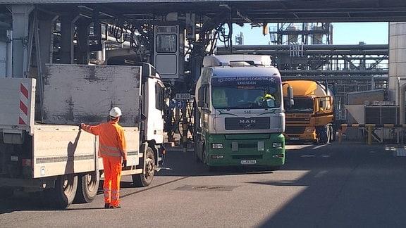 BASF-Werke in Schwarzheide: Für viele Unternehmen aus Sachsen ist BASF Schwarzheide ein wichtiger Auftraggeber. Hier sollen komplette Güterzüge nach Osteuropa und Fernost abgefertigt werden