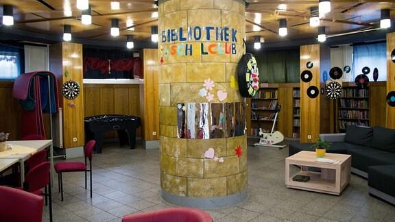 Bibliothek im Planetarium Hoyerswerda.