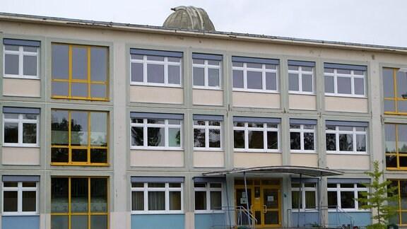 Gebäude des Planetariums Hoyerswerda.