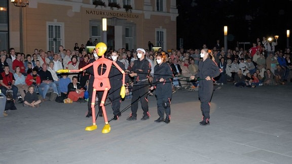 Performance auf dem Görlitzer Marienplatz