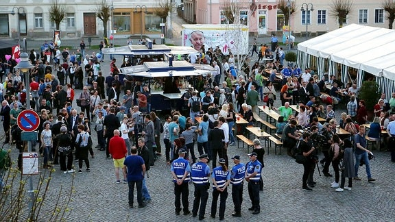 Friedensfest auf dem Marktplatz Ostritz