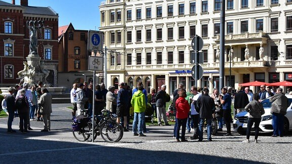 Versammlung in Görlitz gegen Corona-Maßnahmen