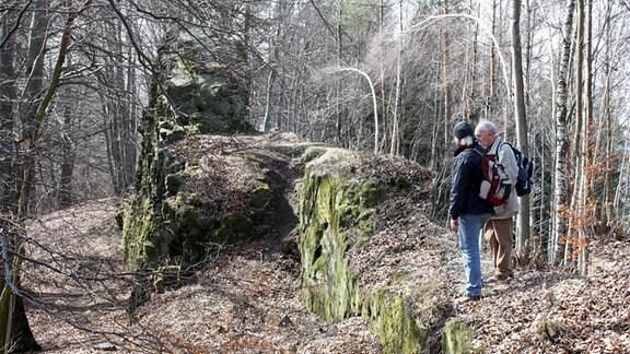 Die Teufelsmauer von Osečná in Böhmen.