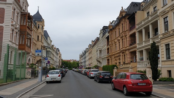 Blick in die Augustastraße