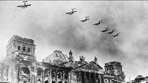 Schlacht um Berlin 1945.