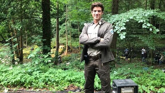 Dreharbeiten in der Sächsischen Schweiz zur neuen MDR-Filmreihe rund um Ranger Jonas Waldek.