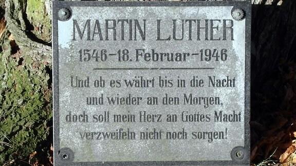 Gedenkstein an der Luthereiche in Röhrsdorf
