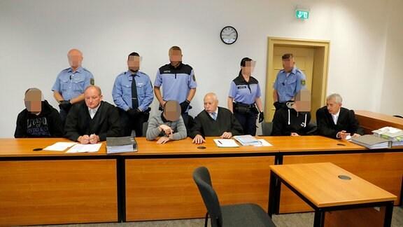 Angeklagte im Prozess gegen einen Mann in Aue