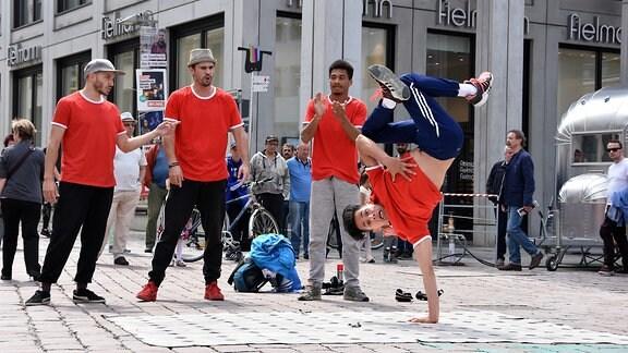 Breakdancer auf dem Hutfestival Chemnitz