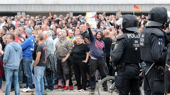 Demonstration Chemnitz 27.08.2018 Hitlergruß