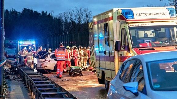 Unfall auf B180 bei Stollberg