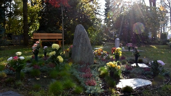 Gedenkstätte für Sternenkinder auf dem Friedhof Hartha