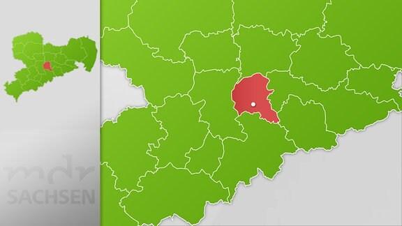 Karte Region Freiberg