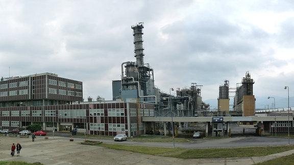 Ein Teil der Anlage der Chemiefabrik Unipetrol RPA in Litvinov.