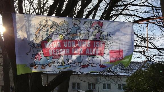 Pflegekräfte in Zwickau protestieren
