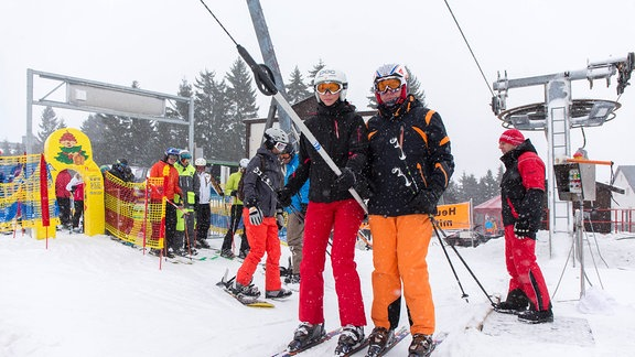 Skifahrer in Oberwiesenthal