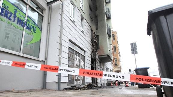 Brand in rechtem Szeneladen in Plauen