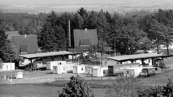 Grenzübergang Schönberg - Vojtanoy (DDR - Tschechoslowakei), 1990