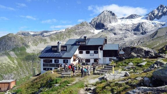 Die Plauener Hütte des DAV Plauen in den Zillertaler Alpen