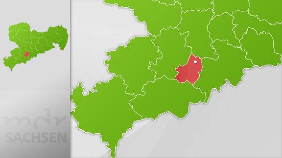 Karte Region Zschopau
