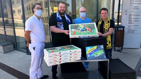 Spendenaktion Fußball Krankenhaus Glauchau