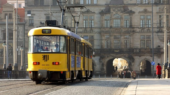 Tatra-Straßenbahn in Dresden