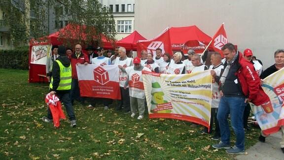 Gebäudereiniger in Dresden streiken