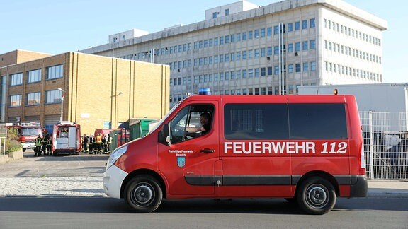Feuerwehreinsatz bei Arevipharma Radebeul am 17. April