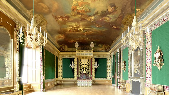 Paradeschlafzimmer im Residenzschloss Dresden