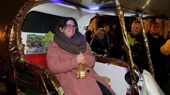 Lena König - erste Preisträgerin in Seifenkiste.