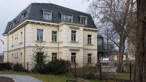 Das Erich-Kästner-Museum in der «Villa Augustin» am Albertplatz in Dresden.
