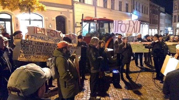 IPO Protest Pirna