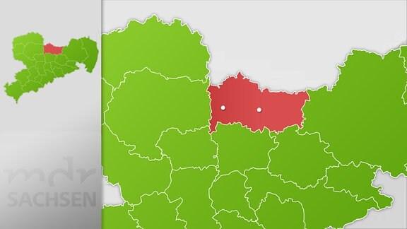 Karte Region Großenhain und Riesa