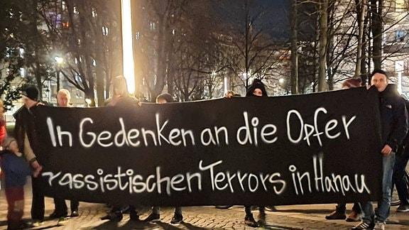 Gedenken in Dresden an Vorfälle in Hanau