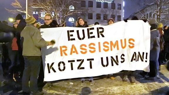 Höcke-Auftritt in Dresden