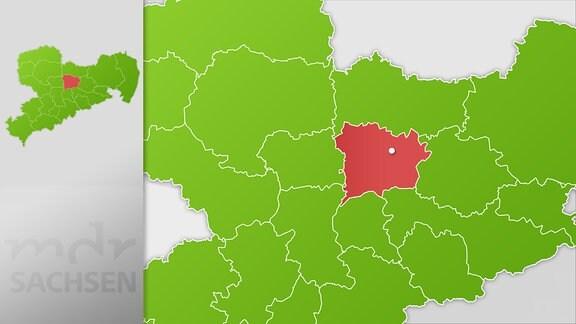 Karte Region Meißen
