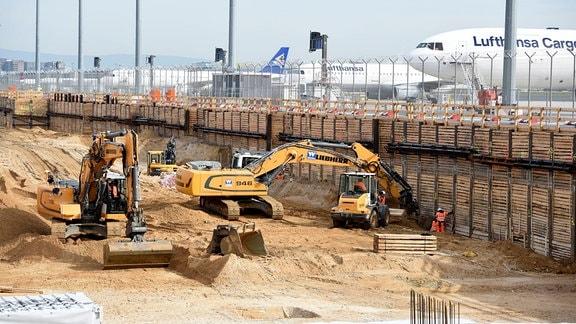 Baustelle am Frankfurter Flughafen